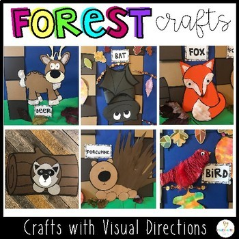 Forest Themed Crafts for Preschool and Kindergarten with Visual Directions