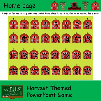 Harvest Themed PowerPoint Review Game