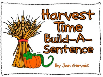 Harvest Time Build a Sentence
