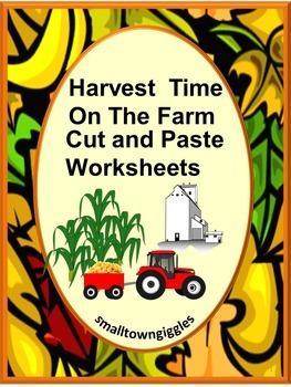 Autumn or Fall Farm Harvest Kindergarten Math & Literacy C