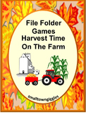 Farm Harvest Math and Literacy Fine Motor File Folder Game