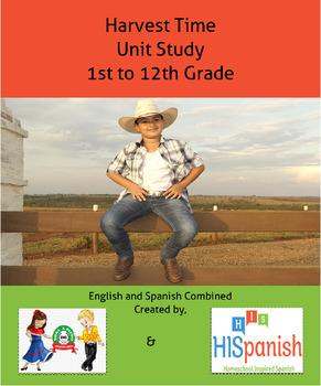 Harvest Time Unit Study English and Spanish