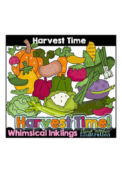 Harvest Time Veggies Clipart Collection