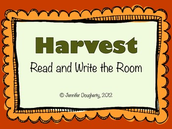 Harvest and Thanksgiving Read and Write the Room!