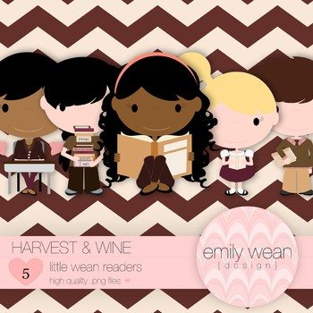 Harvest and Wine - Little Readers Clip Art