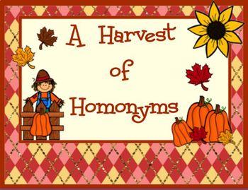 Harvest of HOMONYMS
