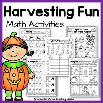Harvesting Fun Math Activities - No Prep - Just Print