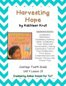 Harvesting Hope Supplemental Activities 4th Grade Journeys