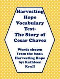 Harvesting Hope Vocabulary Test