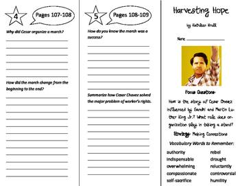 Harvesting Hope Trifold - Imagine It 6th Grade Unit 1 Week 4