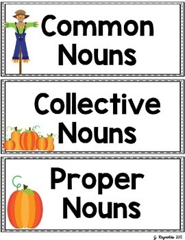 Harvesting Nouns and Non-Fiction--Anchor and Pocket Chart Activity Pack