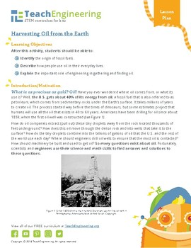 Harvesting Oil from the Earth