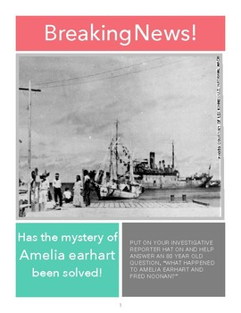 Has Amelia Earhart's mystery been solved?