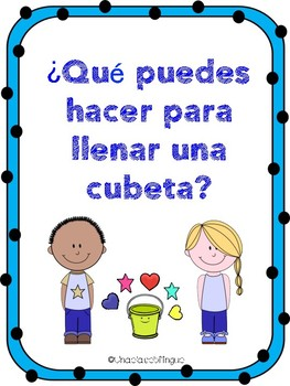 Has llenado una cubeta hoy printables- Bucket filler Spanish printables