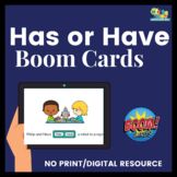 Has or Have Verbs Grammar Boom Deck for Speech and Language Therapy