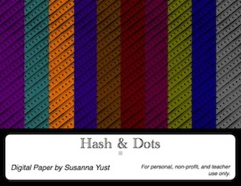 Hash & Dots Digital Paper for Posters and Borders