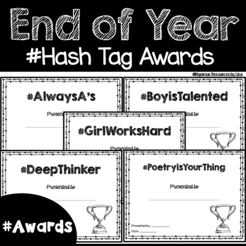 Hash Tag End of Year Awards