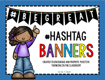 Hashtag #BEGREAT (Be Great) Growth Mindset Banner