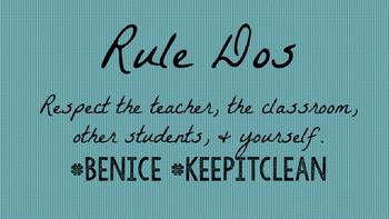 Hashtag Classroom Rules