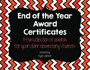 End of Year Award Certificates (older elementary) #hashtags