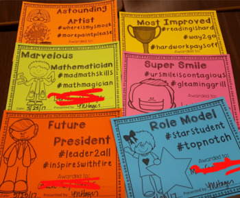 Hashtag End of the Year Award Certificates