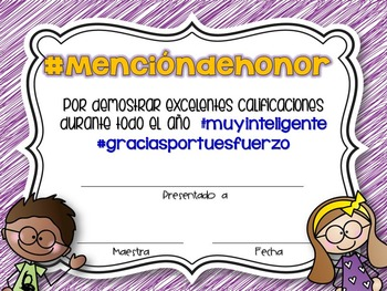 Hashtag End of the Year Awards in Spanish