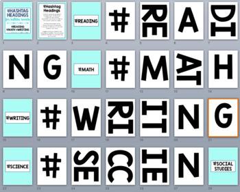 Hashtag Headings: Printable Letters