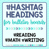 Hashtag Headings: Printable Letters