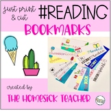 Hashtag Reading Bookmarks (full color, partial color, and