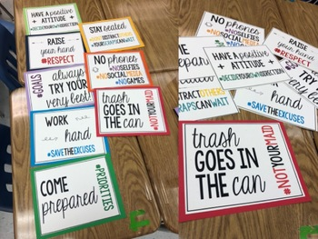 Hashtag Signs/Posters for Bulletin Boards or Classroom: Printable!