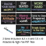 Hashtag Signs/Posters for Bulletin Boards or Classroom: Pr