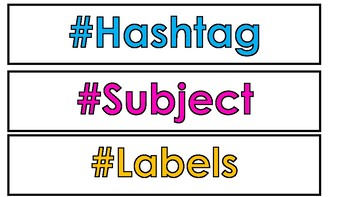 Hashtag Subject Labels