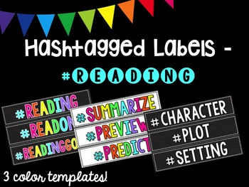 Hashtagged Labels - Reading Hashtags