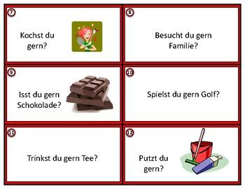 Hast du gern.....? German Task Cards with Gern Expressions