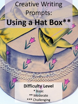 """Hat Box"" Writing Creative Prompts Ready to Use Cards"