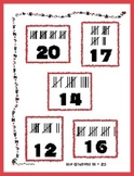 Hat Counting 11-20 Set Matching File Folder Game - Hash Mark counting