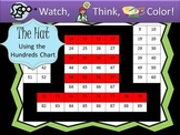 Hat Hundreds Chart Fun - Watch, Think, Color Game Mystery