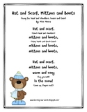 Hat, Scarf, Mittens and Boots: Original Poem