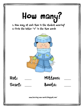 Hat, Scarf, Mittens and Boots: Winter Clothing Mini-Unit