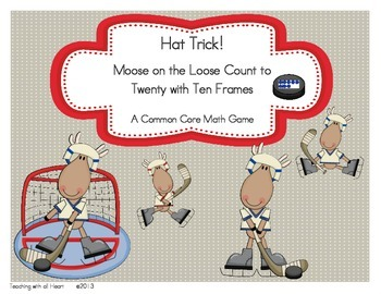 Hat Trick!  Moose on the Loose Count to Twenty with Ten Frames