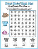 Hat Day Activity - Hat Word Search