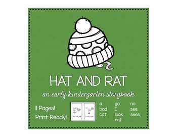 Hat and Rat kindergarten sight word storybook