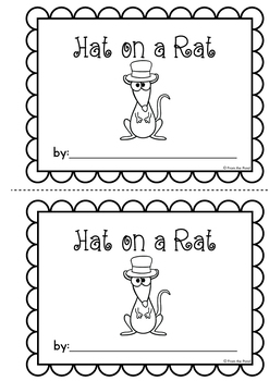 Word Family Printable Reader - Hat on a Rat {freebie}
