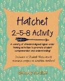 Hatchet 2-5-8 Student Menu and Resources