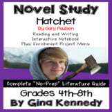 Hatchet Novel Study & Enrichment Project Menu