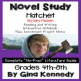 Hatchet Novel Study & Enrichment Project Menu; Plus Digital Option