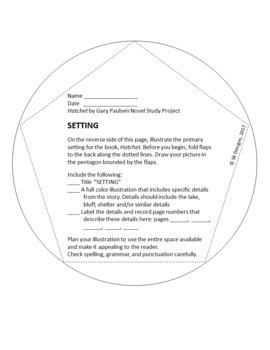 Hatchet 3D Novel Study and Final Project Instructions, Templates, Rubrics