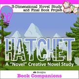 Hatchet 3D Creative Novel Study and Final Project Literature Unit w Rubrics