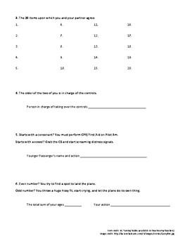 Hatchet Activity Recording Sheet