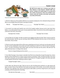 Hatchet Activity Teacher Script